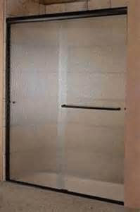 bypass glass shower doors 1 4 quot bypass shower doors enclosures