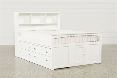 Bayfront Full Captains Bed With Single 4 Drawer Unit