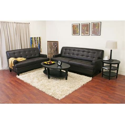 Cheap Leather Sofa And Loveseat Wholesale Interiors Adair Leather Loveseat And Sofa Set Brown 1287 206 Loveseat 1 1287 206 Sofa 1