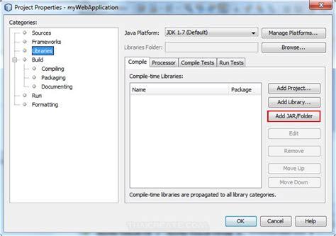 tutorial netbeans jsp jsp and netbeans jsp include adding external jar library