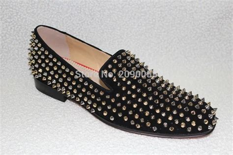 gold spiked loafers gold spiked loafers mens louboutin copy shoes