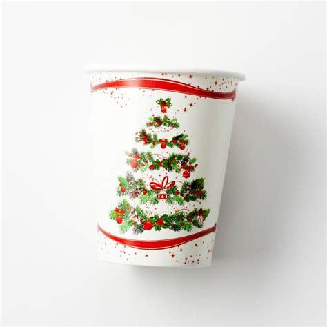 arbol de navidad de vasos de plástico vasos para mesas de navidad