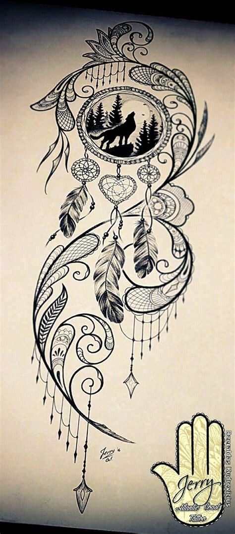 wolf dreamcatcher tattoo designs best 25 catcher drawing ideas on