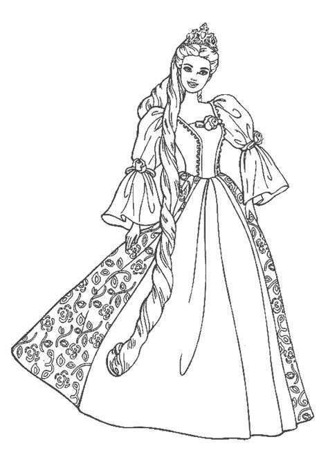 Princess Coloring Pages 15 Coloring Kids Detailed Princess Coloring Pages Printable
