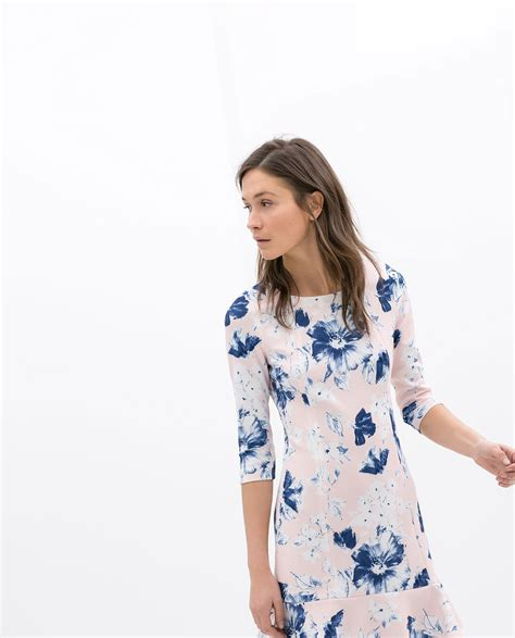zara floral print dress lyst