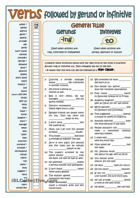 verb pattern gerund or infinitive verb infinitive or ing form exercises pdf ncert