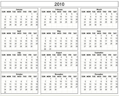 2010 calendar template 2010 calendar fotolip rich image and wallpaper