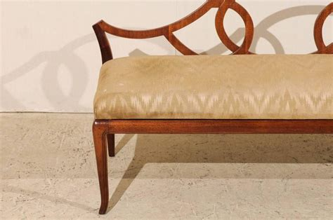 low back bench seat italian vintage low back bench with upholstered seat at
