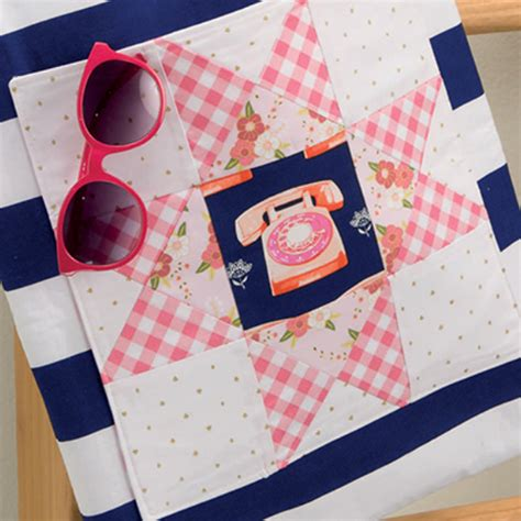 The Patchwork Place - a sweet lunch hour patchwork project a tote quilting