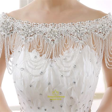 beaded capelet wedding the shoulder lace beaded wedding shoulder necklace