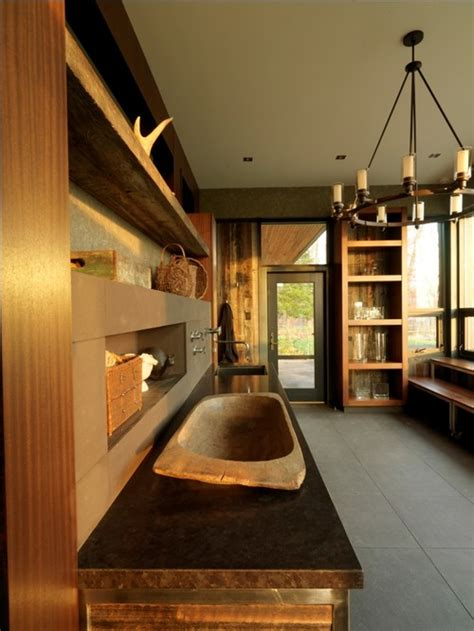 modern laundry hers rustic home design inspiration