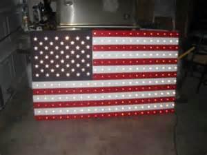 american flag holiday lights