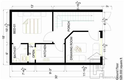 home plan design com 2 marla house design plan gharplans pk