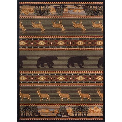 Home Depot Area Rugs 4x6 Tayse Rugs Nature Green 3 Ft 11 In X 5 Ft 3 In Indoor Area Rug Ntr6588 4x6 The Home Depot