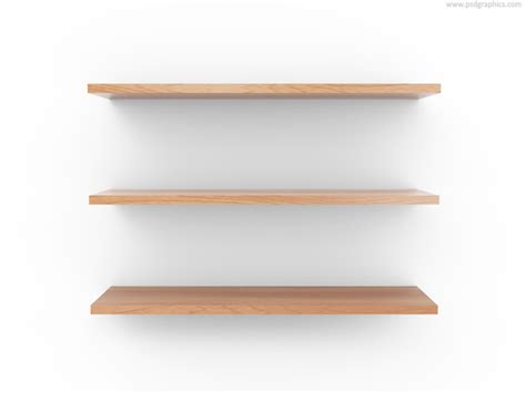 Shelf Template by Empty Wooden Shelf Psdgraphics