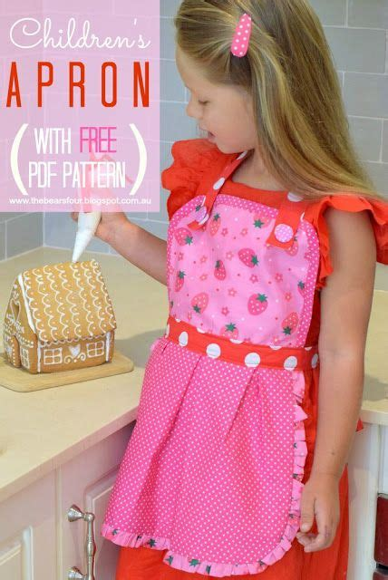 Apron Pattern Step By Step | free pdf sewing pattern for these cute kid s aprons load