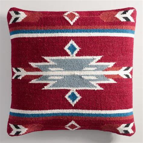 wool kilim throw pillow world market