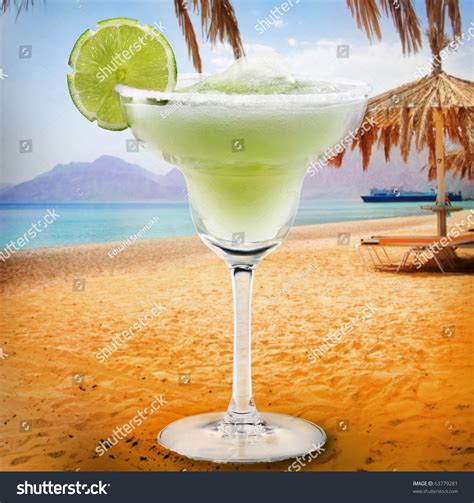 margarita on the margaritas with lime background of stock photo