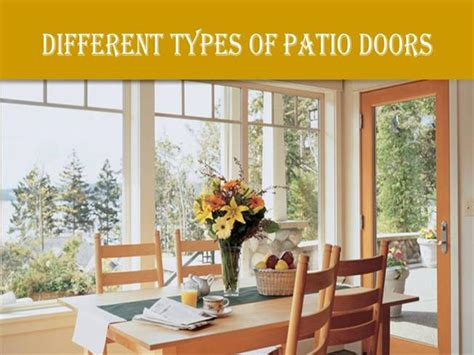 Different Types Of Patio Doors Different Types Of Patio Doors Authorstream