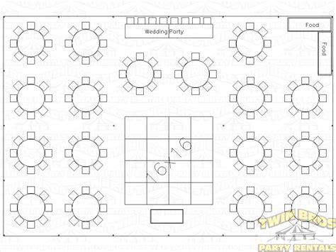 Wedding Reception Table Layout Template Reception Wedding Table Chart Template