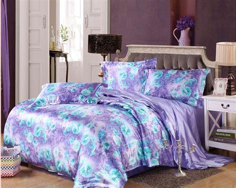 Brand Bed Cover Set California King 180x200 No 1 Motif Verena 7pcs blue purple floral bedding set cal king size silk