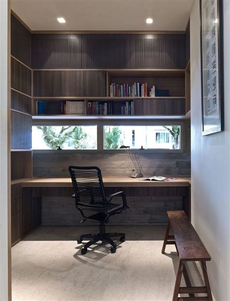 Study Office Design Ideas Decorating Creative Built In Studying Desk On Small Space Home Study Design Mixed With Black