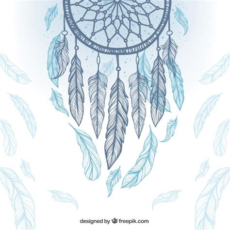 dreamcatcher feathers ethnic background with dreamcatcher and feathers vector