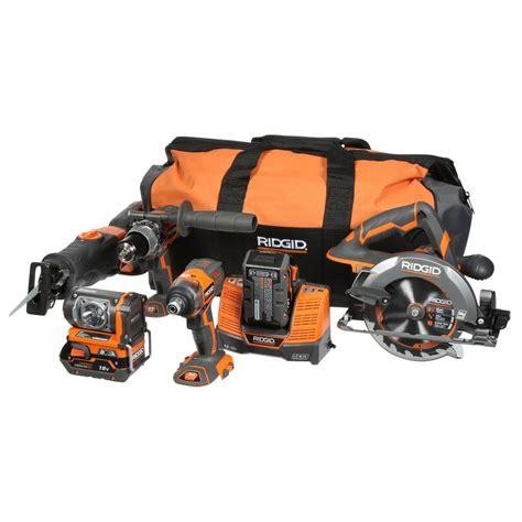 ridgid tool sets x4 18 volt hyper lithium ion cordless