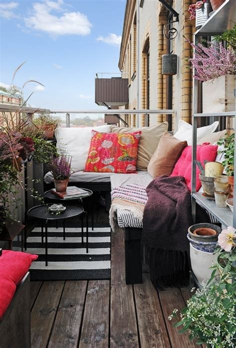 colorful boho chic balcony decor ideas digsdigs
