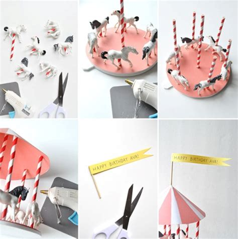 How To Make A Carousel Out Of Paper - diy spinning carousel centerpiece kidsomania