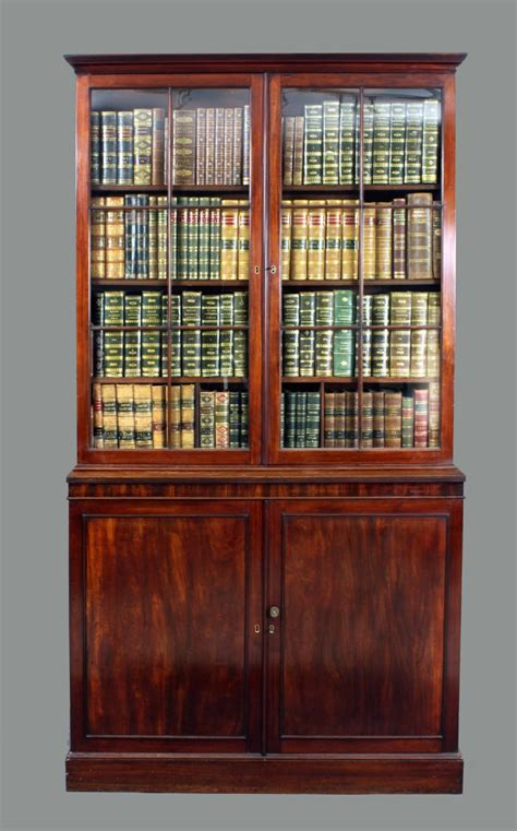 antique georgian mahogany bookcase 248583