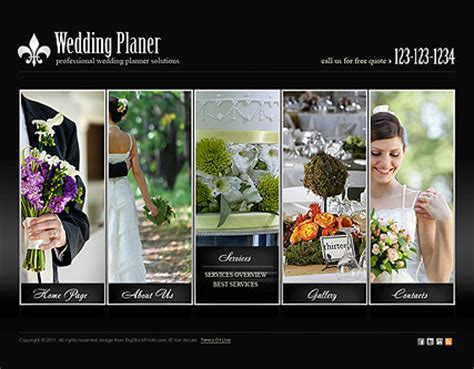 Wedding Planning Websites by Wedding Planner Html5 Template Best Website Templates