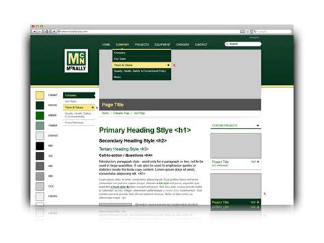 web layout design sle mcnally international web logo and print design blox