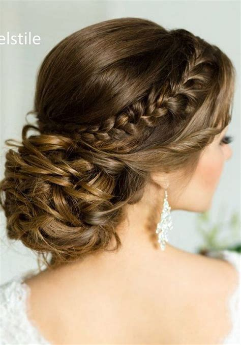 Wedding Hairstyles With A Braid by 75 Chic Wedding Hair Updos For Brides Chongos