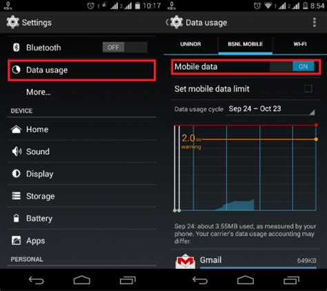 mobile data switch how to turn on or enable mobile data in android spinfold