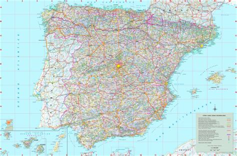 map of spain with cities large detailed map of spain with cities and towns