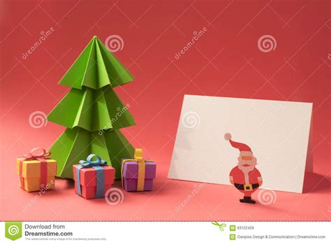 merry christmas paper cut handmade card template stock image image  scene holiday