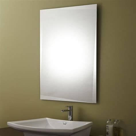 decoraport unframed bathroom silvered mirror vanity wall