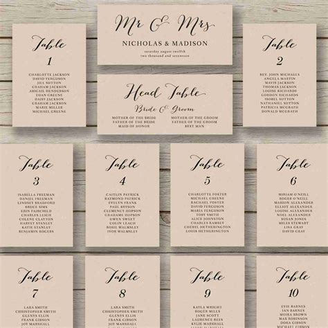 Free Printable Seating Chart Pics ? Free Printable Wedding