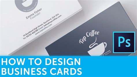 how to make business cards how to design a business card in adobe photoshop