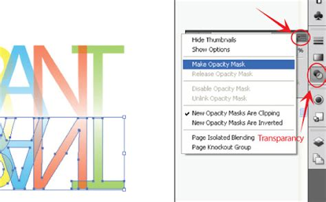 tutorial desain grafis dengan adobe ilustrator membuat efek teks transparan dengan adobe illustrator
