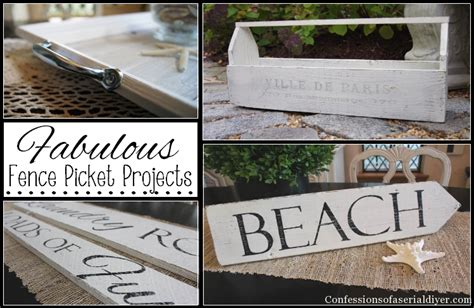 Fall Home Decor Diy fabulous fence picket projects confessions of a serial