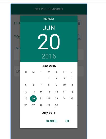 calendar design in android how to show custom calendar with best style and design in