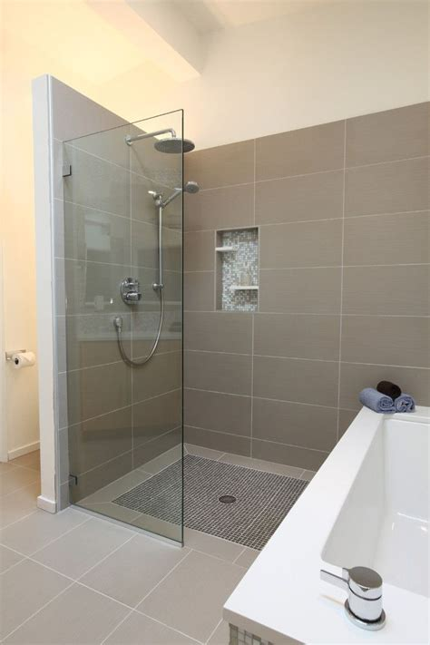 shower instead of bath curbless shower bathroom ideas