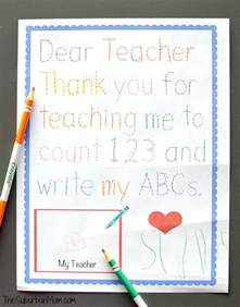 Thank You Note To Preschool Traceable Preschool Thank You Note Preschool Teachers Thank You Notes And