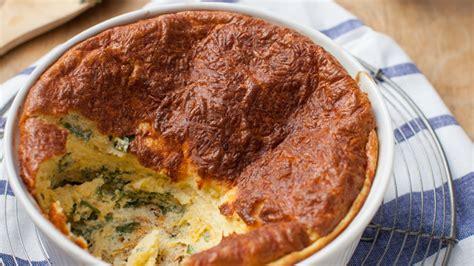 spinach cheese souffle spinach cheese souffle delicious living