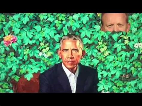 sean spicer obama portrait sean spicer hiding and peeking out of the bushes in obama