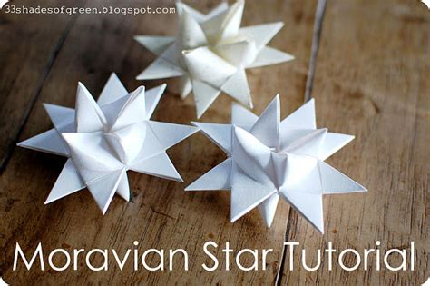 How To Make A Paper Moravian - 33 shades of green handmade holidays moravian tutorial