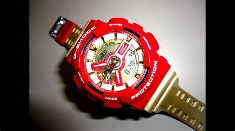 casio shock gacs iron man limited edition red