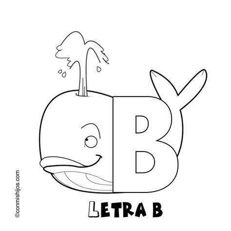 palabras e imagenes con la letra b imprimir letra b dibujos para colorear